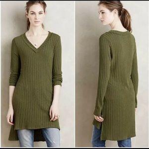 Anthro Deletta V neck Tunic Sweater